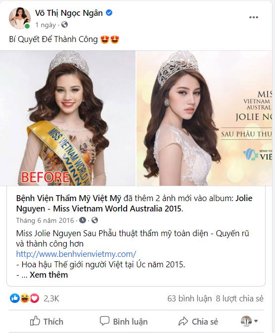 Ngân 98 đăng hẳn ảnh cà khịa Jolie Nguyễn, ai ngờ bị cư dân mạng